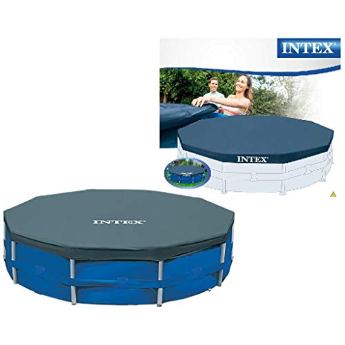 Intex Round Pool Cover - Poolabdeckplane - Ø 305 cm - Für Metal und Prism Frame Pool