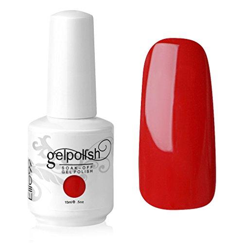 Elite99 UV LED Gel auflösbarer Nagellack Nagelgel Gellack charmant rot red 15ml (1 x 15 ml)