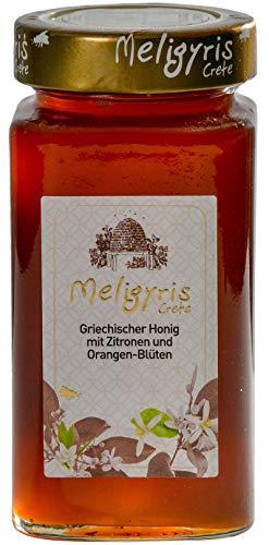 Griechischer Honig aus Zitronen und Orangenblüten von Meligyris | Reiner unvermischter kretischer Honig (450)