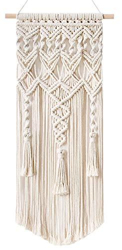Mkouo Makramee Woven Wandbehang Boho Chic Bohemian Home Geometric Art Decor - Schöne Wohnungs-Schlafsaal-Raumdekoration, 33cm x 73.6cm