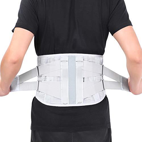 Cinturón de Soporte Lumbar, Cinturón Lumbar Soporte Lumbar, Faja Lumbar Ajustable, Lumbar para la Espalda el Alivio del Dolor Lumbar, Lesiones, Ciática, Hernia de Disco (M)