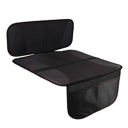 HONZUEN Premium Autositzschoner, Universelles Auto Kindersitz Sitzschoner, Kindersitzunterlage Passend für ISOFIX, Rutschfestes Leicht zu Reinigen Autositzauflage