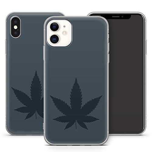 Handyhülle Weed für iPhone Apple Silikon MMM Berlin Hülle Gras Marihuana Cannabis Hanf, Kompatibel mit Handy:Apple iPhone 8 Plus, Hüllendesign:Design 4   Silikon Klar