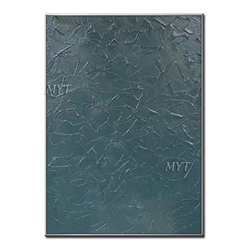 ZNYB Cuadro Lienzo Decoracion 100% Cuadro Hecho a Mano Pintura al óleo Azul y Negro sobre Lienzo Cuadros de Pared de Arte Pop Pintados a Mano para Sala de Estar Dormitorio