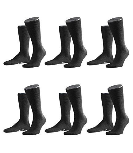 FALKE Herren Airport Socken Strümpfe 14435 6 Paar, Farbe:Anthrazit;Sockengröße:41-42;Artikel:14435-3080 anthrazit mel.