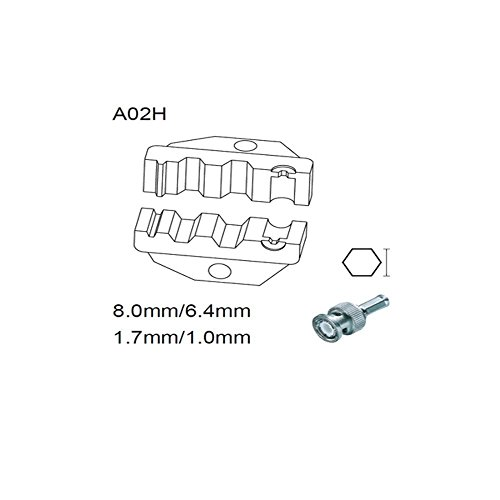 Hochwertige Schneideisensets A02H für Koaxialkabelverbinder 6,5 5,4 1,72 mm RG55 58 59 62