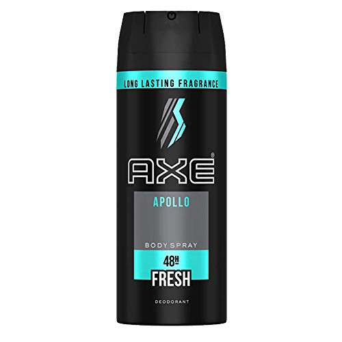 (PACK OF 6 CANS) Axe APOLLO Body Spray Deodorant. 48 HOUR ODOR PROTECTION! Energized & Fresh! (6 Cans, 5oz each Can)
