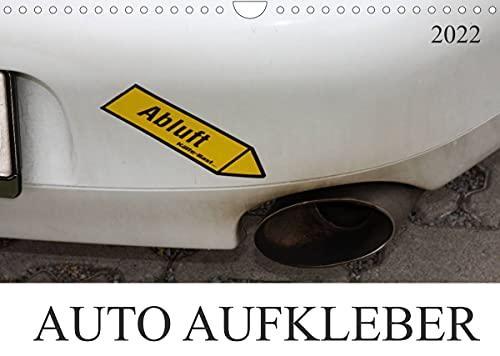 AUTO AUFKLEBER (Wandkalender 2022 DIN A4 quer)