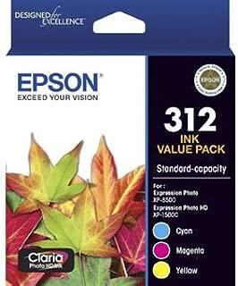 Epson (312) C13T182B92 Genuine (3 Colour) Ink Cartridge Value Pack