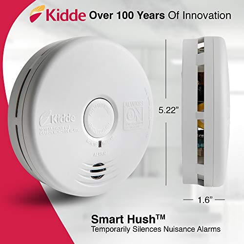 Kidde 21010170 10 Year Smoke and Carbon Monoxide Alarm Detector | Photoelectric | Kitchen | Model P3010K-CO