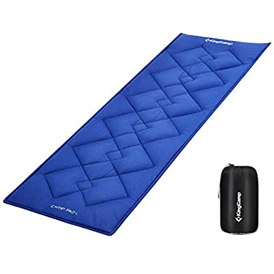 """KingCamp XL Cot Pad for Camping 80""""x30"""", Soft Cotton Oversized Sleeping Mat, Camping Cot Mattress Pad Floor Guest Bed Portable Lightweight for Camping Traveling and Hiking Outdoor"""