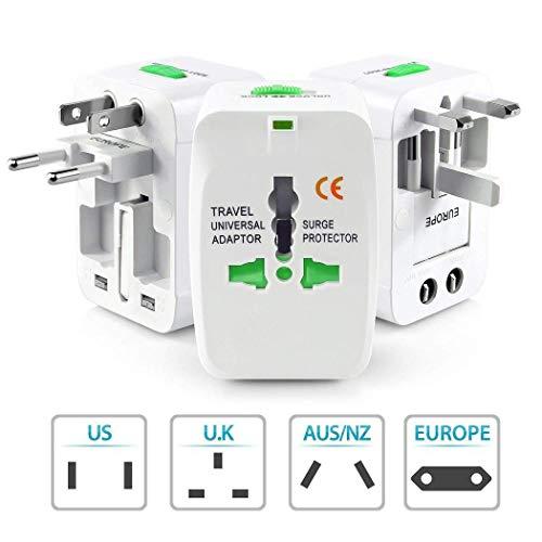 Creine Adaptador de Viaje Giratorio Mundial de US/UK/EU/AU Plug PC para teléfono móvil Accesorios