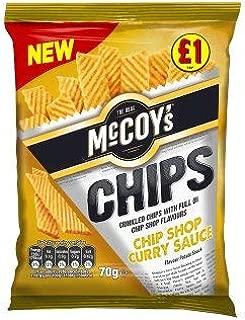 McCoys Chip Shop Curry Sauce Flavour Potato Snack 70g x 16 Bags