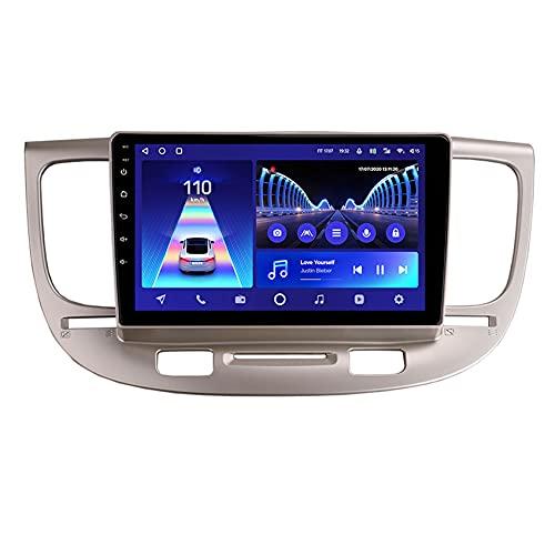 Amimilili Android 10 GPS Navigation Car Stereo Radio Media Player para Kia Rio 2 2005-2011con 4G WiFi DSP Bluetooth Carplay Control del Volante Enlace Espejo Cámara Trasera,8core WiFi+4g: 6+128g