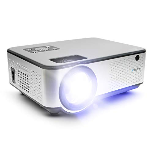 XElectron C9 Smart Android HD 720p (1080p Support) | 3800 Lumen (380 ANSI) with 180 inch Large Display LED Projector | VGA, AV, HDMI, USB, Audio