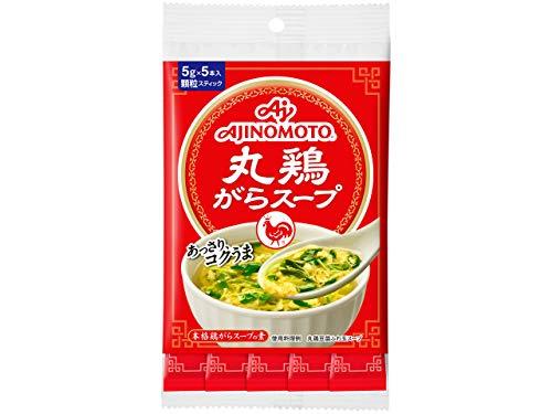 味の素 丸鶏がらスープ 5gスティック5本入×5個
