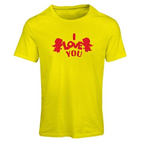 Camiseta Mujer ángel Cupido Dice: Te Quiero Comillas