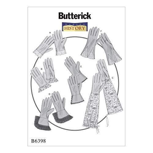 Butterick Patterns Butterick Schnittmuster 6398OS Handschuhe, Mehrfarbig,