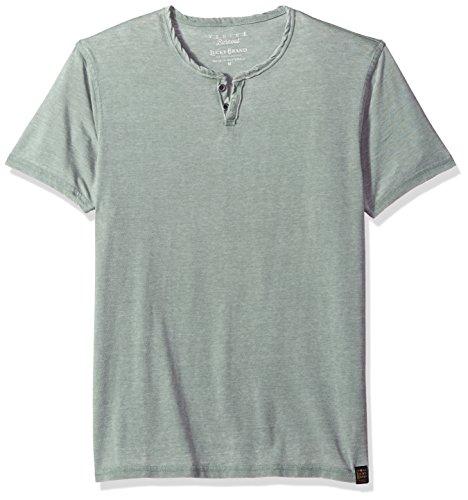 Lucky Brand Men's Venice Burnout Notch Neck TEE Shirt, Laurel Wreath, L