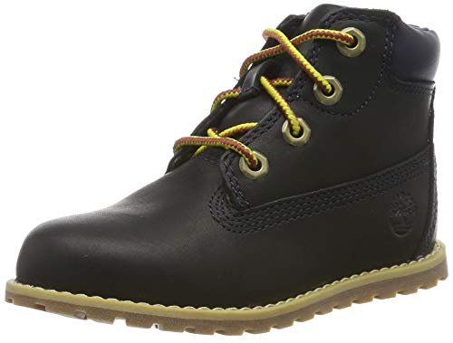 Timberland Unisex-Kinder Pokey Pine 6In Boot with Side Zip Klassische Stiefel, Blau (Navy Full Grain), 25 EU