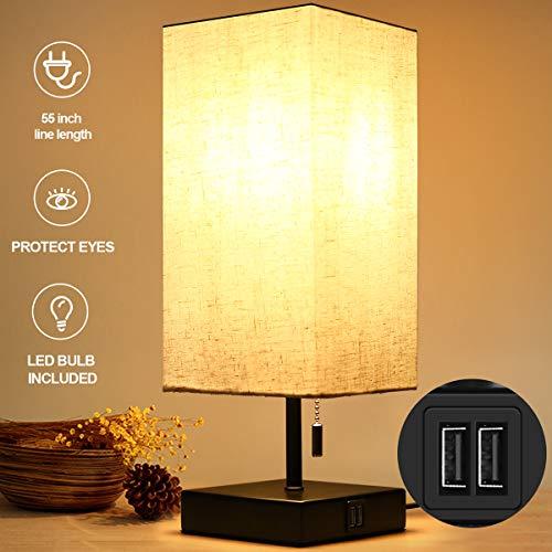 HOKEKI Bedside Table Lamp, with ...
