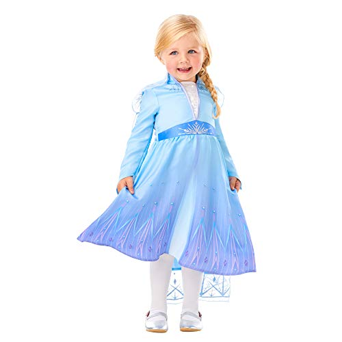 Rubies clásico de Elsa de Frozen para niñas 2-3 años Disfraz, (Rubie'S Spain, S.L. 300284-T)