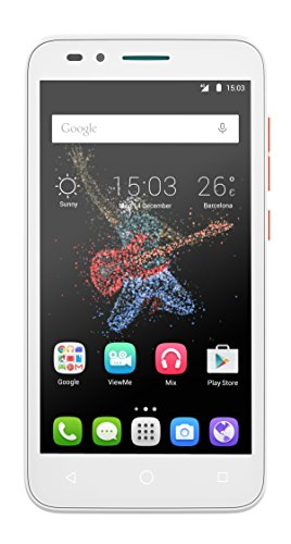 Alcatel Onetouch Go Play 12,7 cm (5 Zoll) Smartphone (IPS Display, 8 Megapixel Kamera, LTE, Android 5.0) weiß/orange