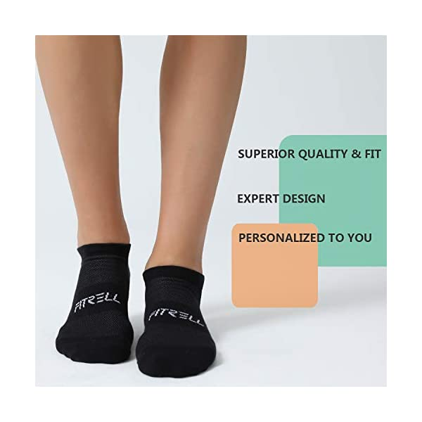 FITRELL 6/8 Pack Running Ankle Socks for Men and Women – Cotton Cushioned Low Cut Athletic Socks