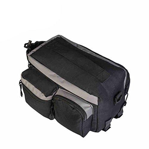 VORCOOL Rear Rack Pannier Bag Rücksitz Cargo Trunk Handtasche für Radfahren Fahrrad Mountain Road MTB Bike - schwarz (28 x 14 x 16 cm)