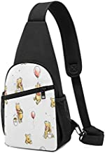 Winnie the Pooh Crossbody Bags Sling Bag/Backpack Versatile Water Resistant Casual Commuting Shoulder Bag Outdoor Cycling Hiking Travel Chest Bag Daypack