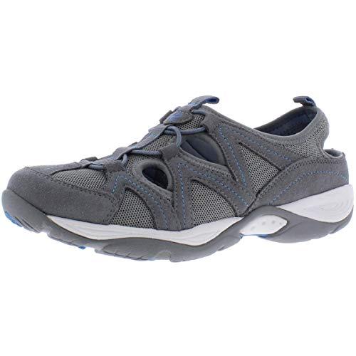 Easy Spirit Womens Earthen Fabric Low Top Bungee Walking Shoes, Grey 2, Size 7.5