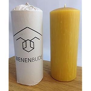 2 Stück XL Kerzen, 20 x 8 cm, Stumpenform, aus 100% Bienenwachs, handgemacht, direkt vom Imker aus Deutschland, Bayern…