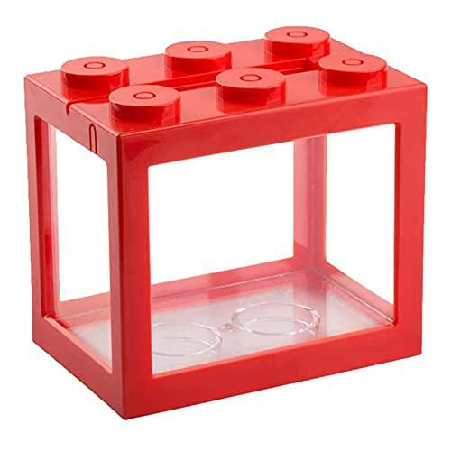 Mini Cube acquario escursioni Acrilico Fish Tank per Goldfish e altri piccoli pesci Ideale per Office Soggiorno Tavolino Desk Decoration