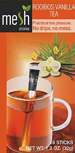 MESH Rooibos vanille thee 16 sticks - thee genieten gemakkelijk gemaakt - geen zak, geen druppel, geen lepel - eenvoudig in het gebruik, natuurlijk in de smaak.
