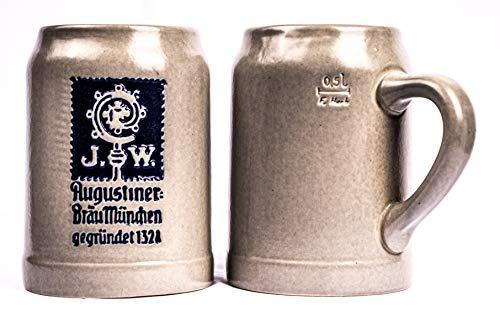 Augustiner Bräu München 2er Set Steinkrug 0,5 Liter