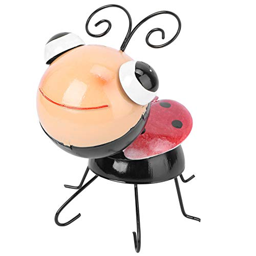 Yardwe Iron Ladybug Garden Statues and Sculptures Metal Yard Art Outdoor Statue Lawn Ornaments for Home Patio Backyard Decor