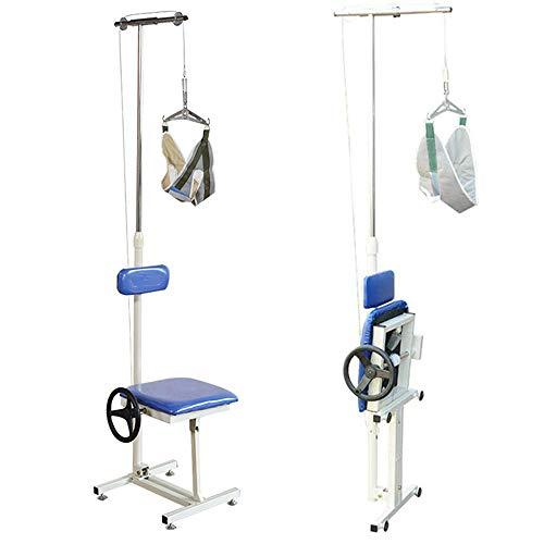 ZJDU Dispositivo De Tracción del Cuello,Silla De Tracción Cervical Plegable,Utiliza En Fisioterapia para Ayudar A Tratar El Dolor De Cuello, La Artritis, La Hernia Discal