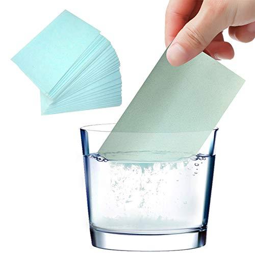 ZHAOXX 100 Stück Fliesenbodenreiniger-Tabletten Wasserlösliches Reinigungsblatt Papier Effizient Staubflecken entfernen Geruchsreinigung für Holzbodenfliesen