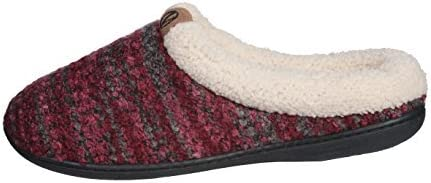 Roxoni Womens Knitted Fleece Lined Clog Slippers Warm House Shoe
