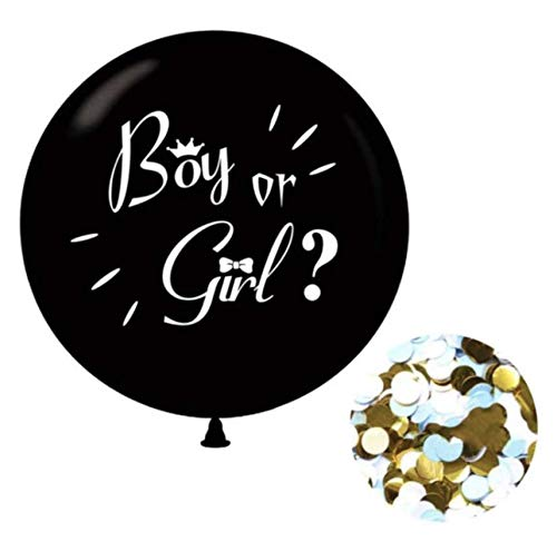 Gender Reveal Ballon 90 CM - Incl. Blauwe Confetti - Boy or Girl - Babyshower - Geslacht Baby Onthullen - Baby Boy