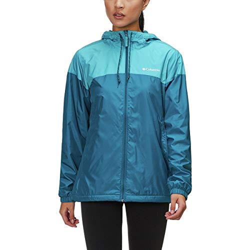 Womens Flash Forward Lined Lagoon/Beta Windbreaker Jacket