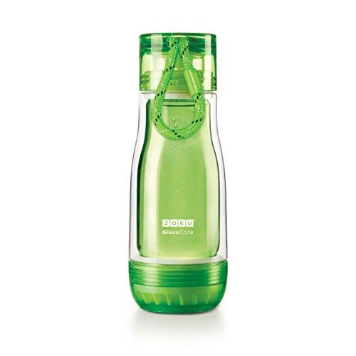 ZOKU(ゾク) コアボトル 355ml グリーン φ7.7xH21cm カラフル おしゃれ 耐熱 耐久 ガラス ホウケイ酸 衛生的 おいしい 日常 39463