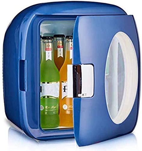 Mini 9L pequeño refrigerador de coches, dormitorio de la oficina del estudiante mini nevera, calefacción refrigeración Termostato caja, for la seguridad del coche del dormitorio, azul claro 1yess
