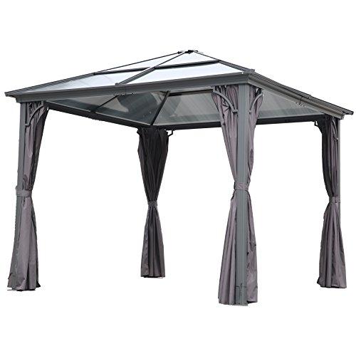 Angel Living 3 x 3 m Aluminio Patio Gazebo Toldo Marquee Carpa Hardtop Techo Jardín Refugio (Gazebo)