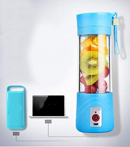 Juicy Cup multi-funzione Portable Mini Frullatore succo macchina carica Juicer succo macchina portatile, Rosa LMMS (Color : Blue)