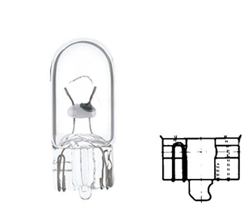 HELLA 8GP 003 594-141 Ampoule - W3W - Standard - 12V - 3W - Type de culot: W2,1x9,5d - Boîte - Quantité: 10