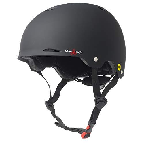 Triple Eight Gotham Dual Certified MIPS Skateboard and Bike Helmet, Black Matte, Large / X-Large, Gotham MIPS