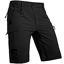 Cycorld MTB Hose Herren Radhose, Mountainbike Hose Fahrradhose Herren Kurz, Schnelltrocknende MTB Shorts Radlerhose Herren Atmungsaktiv Outdoor Bike Shorts (Neueste Schwarz, M)