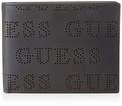 Guess Clive Billfold W/SF W/CP, Small Leather Goods Uomo, Nero, Uni