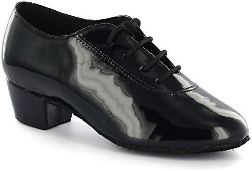 AlmaDanza Boy's Latin Dance Shoes A230602B (1.5, Black)